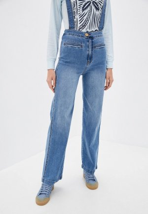 Комбинезон джинсовый Billabong. Цвет: голубой
