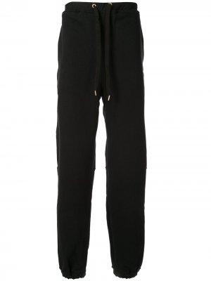 Спортивные брюки Luminous Long Zip Makavelic. Цвет: черный