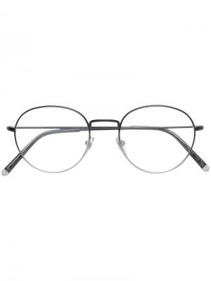 Классические очки в круглой оправе Retrosuperfuture. Цвет: серый