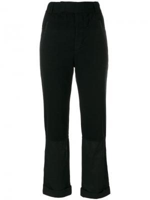 Прямые брюки с завышенной талией Haider Ackermann. Цвет: черный