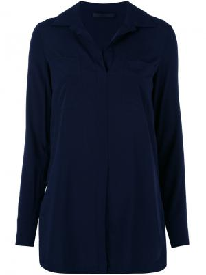 Приталенная блузка Les Copains. Цвет: синий