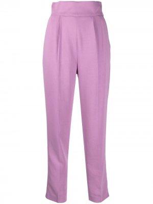 Укороченные брюки с завышенной талией Pinko. Цвет: фиолетовый