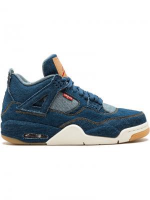 Кеды Nike x Levis Air  4 Retro Jordan. Цвет: синий