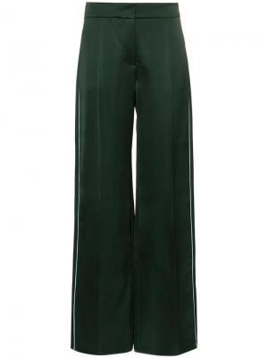 Атласные брюки клеш Peter Pilotto. Цвет: зеленый