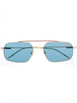 Солнцезащитные очки в прямоугольной оправе Carrera. Цвет: синий