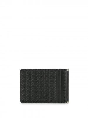 Бумажник с тиснением Gancini Salvatore Ferragamo. Цвет: черный