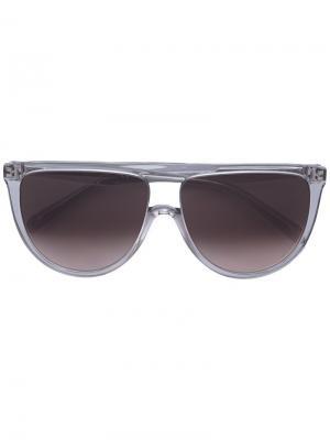 Солнцезащитные очки с квадратной оправой Celine Eyewear. Цвет: серый