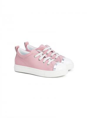 Баскетбольные кроссовки на шнуровке Lanvin Enfant. Цвет: розовый