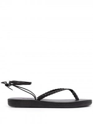 Сандалии Plage со шнуровкой Ancient Greek Sandals. Цвет: черный