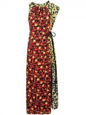 Длинное платье Asym с принтом Proenza Schouler. Цвет: poppy wildflower