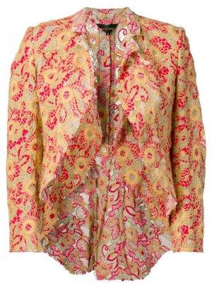Куртка с вышивкой Comme Des Garçons Pre-Owned. Цвет: красный