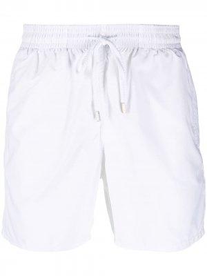 Плавки-шорты с нашивкой-логотипом Vilebrequin. Цвет: белый