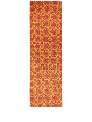 Настольная дорожка с геометричным принтом La Doublej. Цвет: желтый