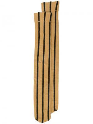 Гольфы в полоску Uma Wang. Цвет: коричневый