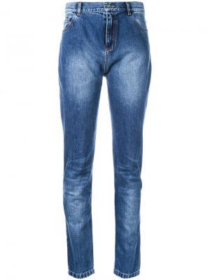 Выбеленные джинсы A.F.Vandevorst. Цвет: синий