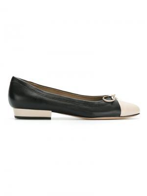 Балетки с круглым носком Sarah Chofakian. Цвет: черный