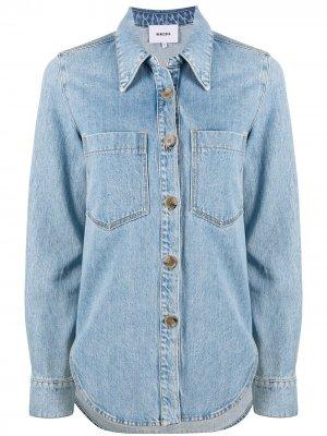 Джинсовая рубашка с длинными рукавами Nanushka. Цвет: синий