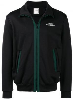 Contrast trim track jacket Wooyoungmi. Цвет: черный