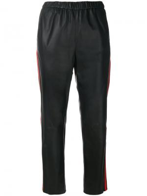 Укороченные брюки с полосками по бокам Drome. Цвет: черный