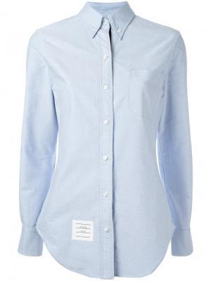 Классическая рубашка Thom Browne. Цвет: синий