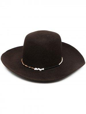 Фетровая шляпа из коллаборации с Casamarina Lab Super Duper Hats. Цвет: коричневый