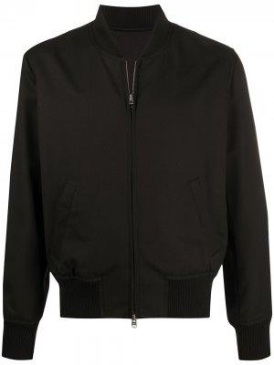 Куртка-бомбер на молнии AMI Paris. Цвет: черный