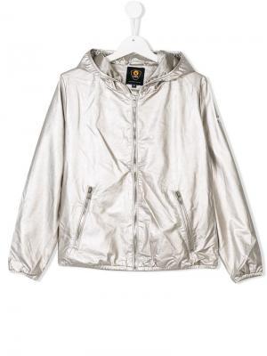 Куртка на молнии с металлическим отблеском Ciesse Piumini Junior. Цвет: металлик