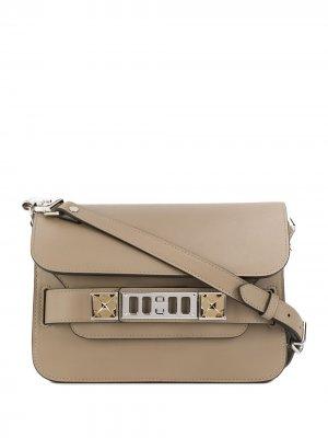 Мини-сумка через плечо PS11 Proenza Schouler. Цвет: нейтральные цвета