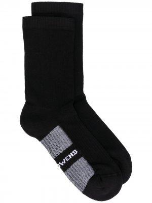Носки с вышитым логотипом Rick Owens. Цвет: черный