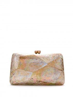 Фактурный клатч Charlotte SERPUI. Цвет: нейтральные цвета