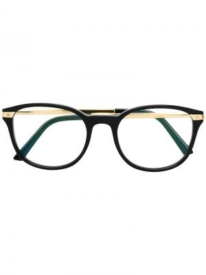 Round frame glasses Cartier. Цвет: черный