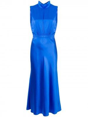 Платье с цветочным принтом Saloni. Цвет: синий