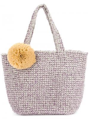 Плетеная сумка-тоут Malibu 0711. Цвет: белый