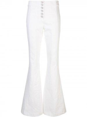 Расклешенные джинсы Carolina Cinq A Sept. Цвет: белый