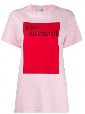 Футболка Joies Du Cheval Victoria Beckham. Цвет: розовый