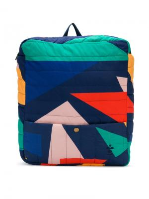 Geometric print backpack Bobo Choses. Цвет: синий