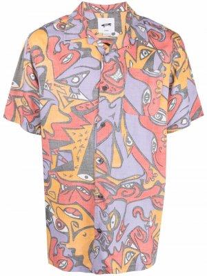 Рубашка с абстрактным принтом Vans. Цвет: фиолетовый