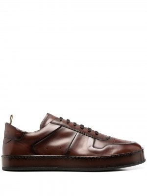 Кроссовки на шнуровке Officine Creative. Цвет: коричневый