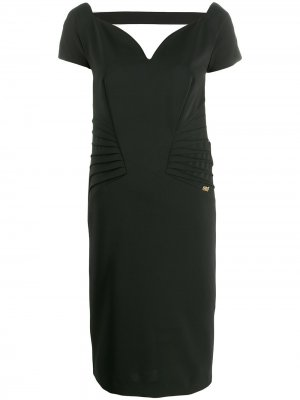 Коктейльное платье с вырезом в форме сердца Cavalli Class. Цвет: черный