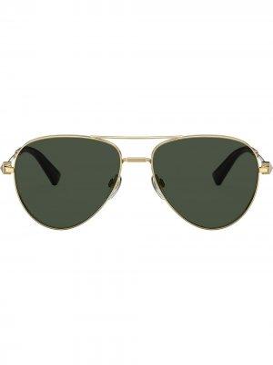 Солнцезащитные очки-авиаторы Rockstud Valentino Eyewear. Цвет: золотистый