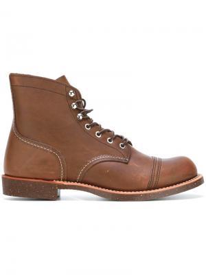 Ботинки на шнуровке Red Wing Shoes. Цвет: коричневый