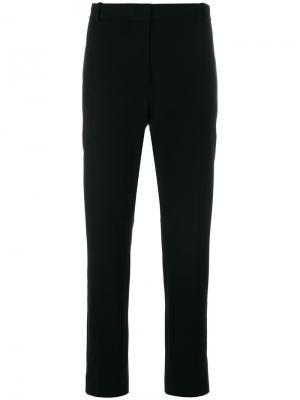 Укороченные классические брюки Joseph. Цвет: черный