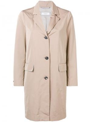 Single breasted coat Peserico. Цвет: нейтральные цвета