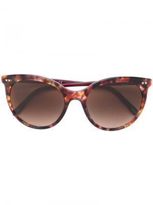 Очки кошачий глаз с узором Tiffany & Co Eyewear. Цвет: коричневый