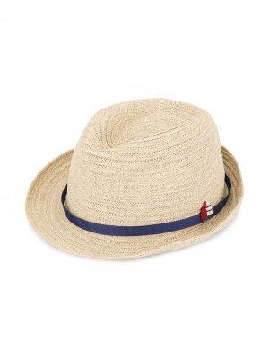 Соломенная шляпа Familiar. Цвет: коричневый