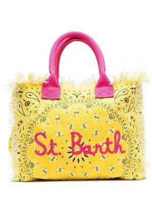 Пляжная сумка с принтом Mc2 Saint Barth. Цвет: желтый