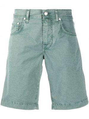 Джинсовые шорты прямого кроя Jacob Cohen. Цвет: зеленый