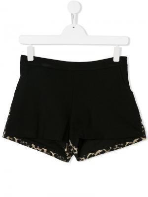 TEEN leopard print shorts Marco Bologna Kids. Цвет: черный