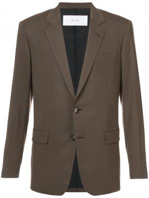 Классический пиджак Julien David. Цвет: коричневый