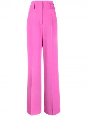 Расклешенные брюки с завышенной талией Alberta Ferretti. Цвет: розовый